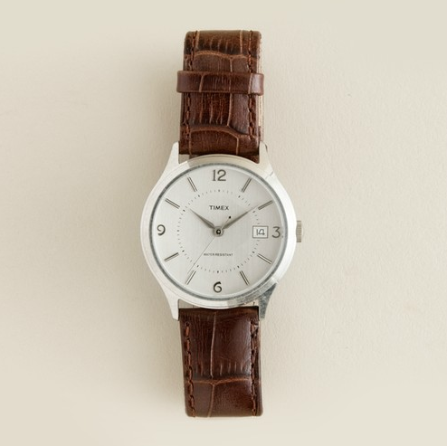 J crew watch, menswear inspired accessories, fall fashion, fancy vs. schmancy, great looks for less