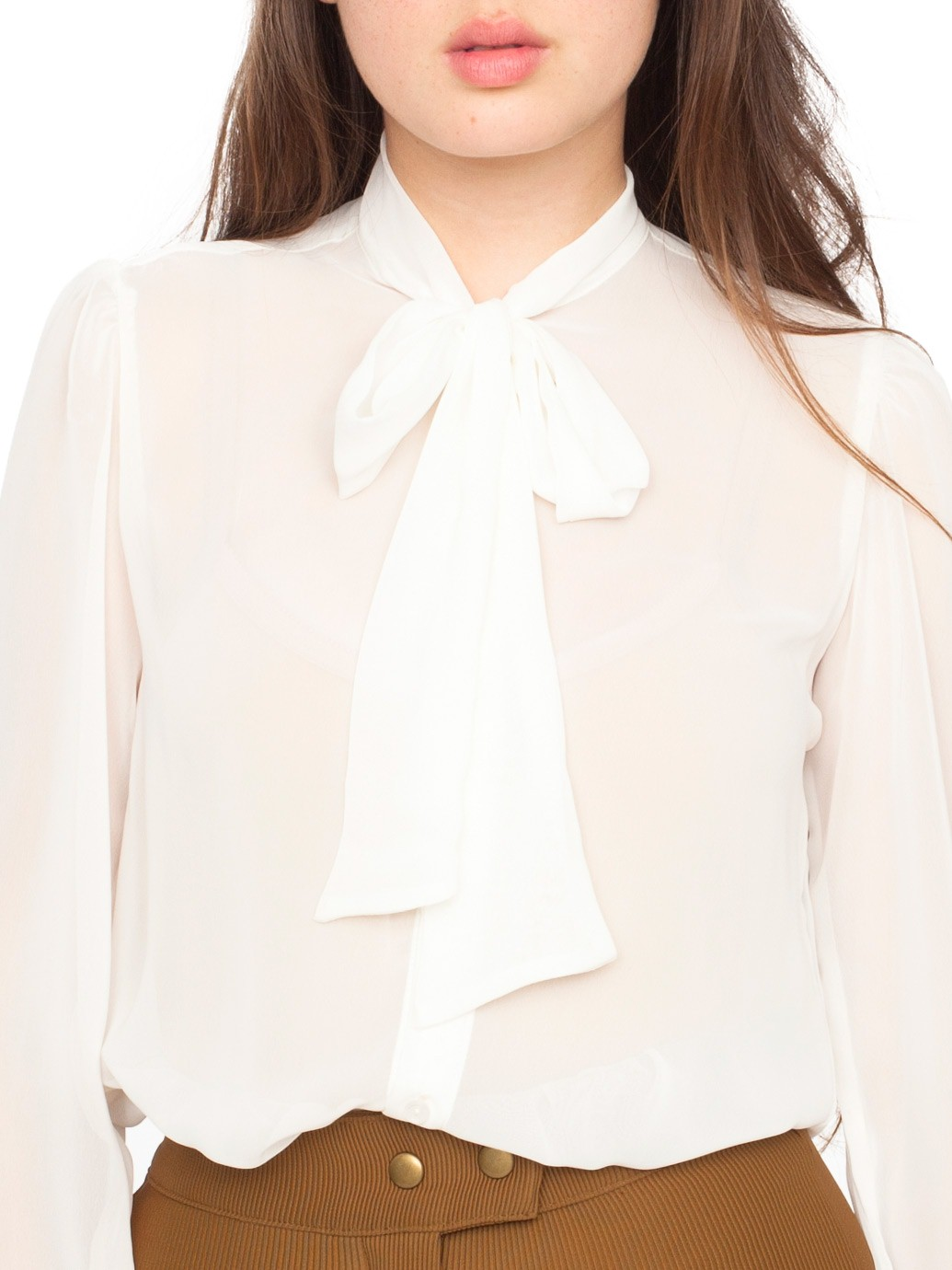 american apparel, chiffon classic top, bow blouse, online shopping, ladies blouse, how to make a simple shirt sexy