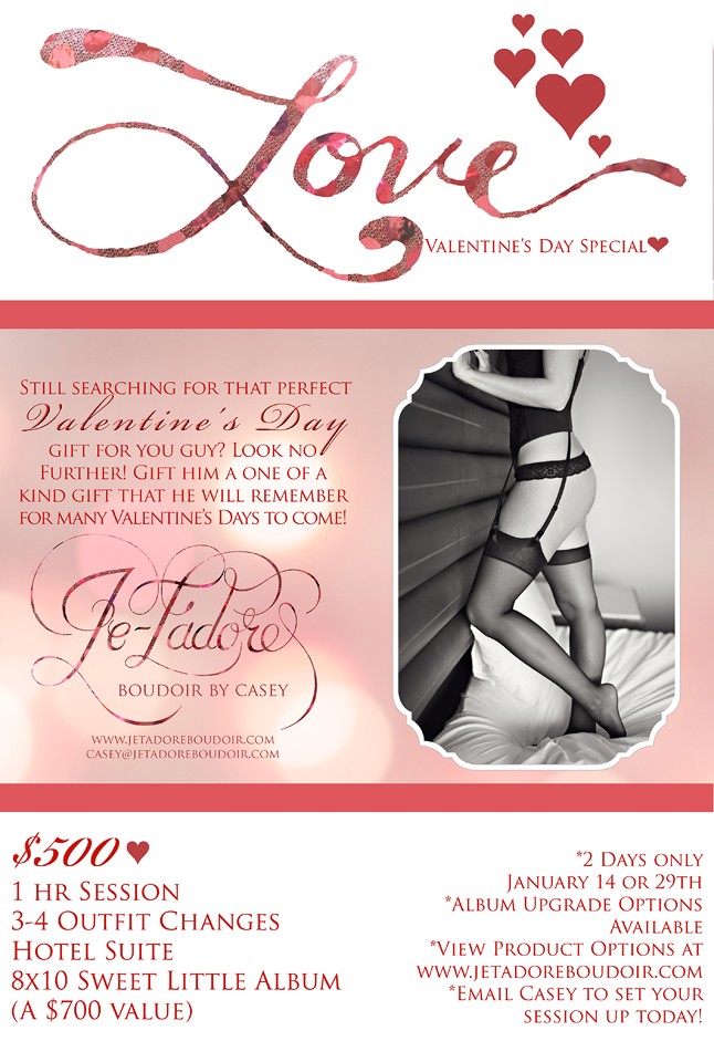 Lubbock Boudoir Photographer Specials