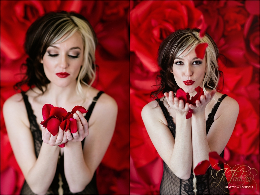 valentine's day boudoir photo shoot