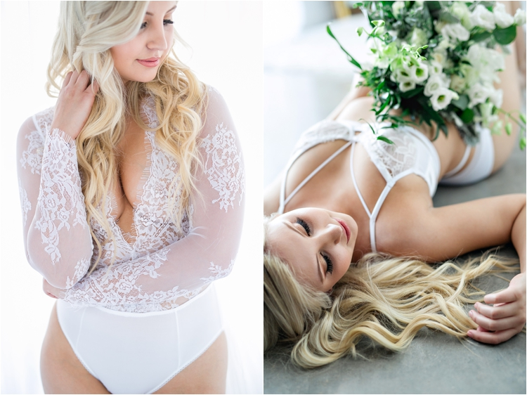 classy bridal boudoir